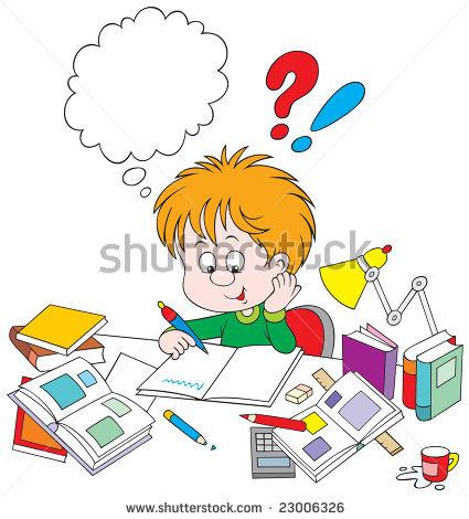 stock-vector-schoolboy-with-homework-23006326