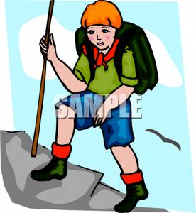 mountain-climber-clipart-A_scout_with_a_backpack_and_a_stick_climbing_a_mountain_101009-236578-329009
